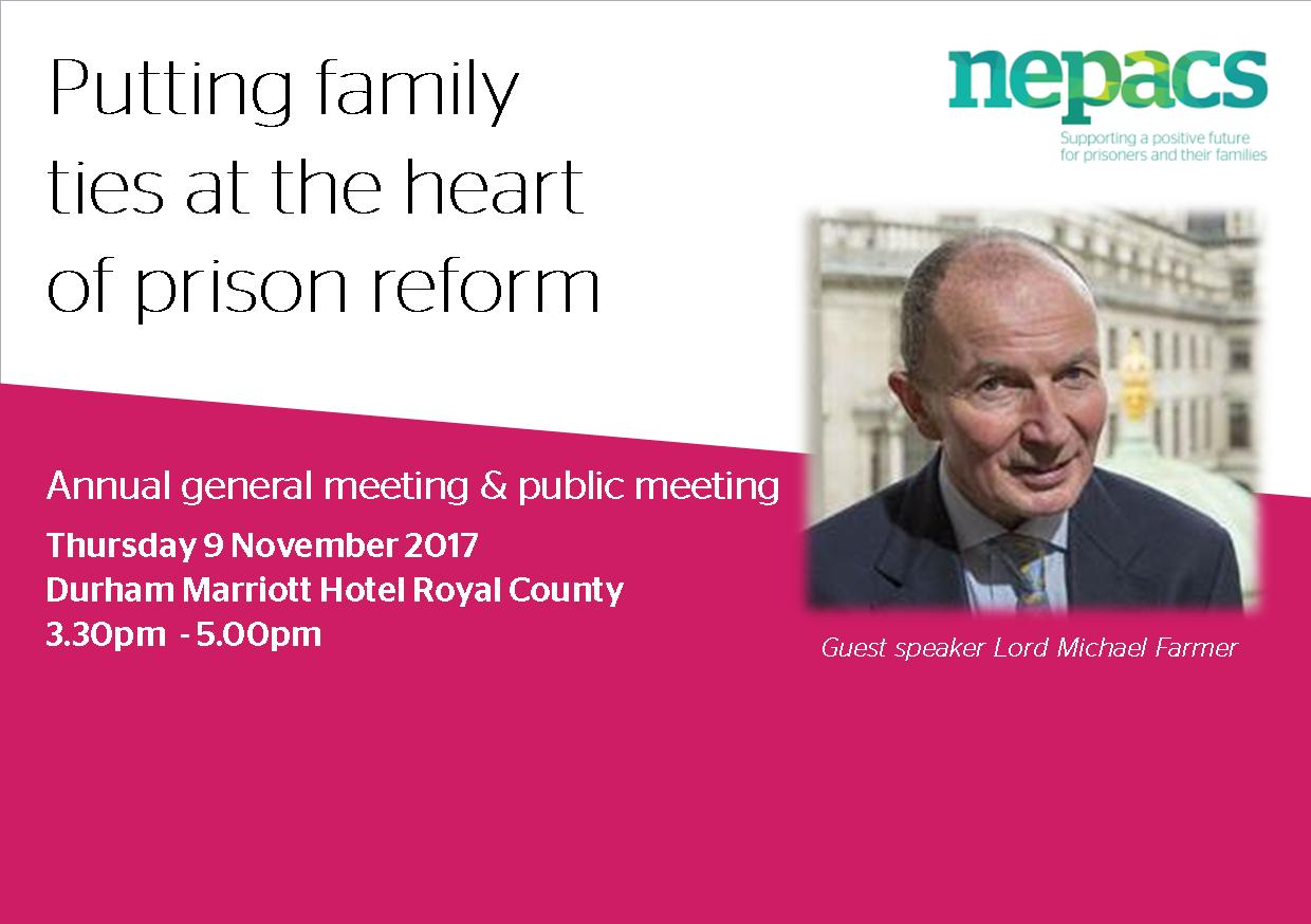 Regional charity supporting prisoners' families invites members of the public to their annual public meeting