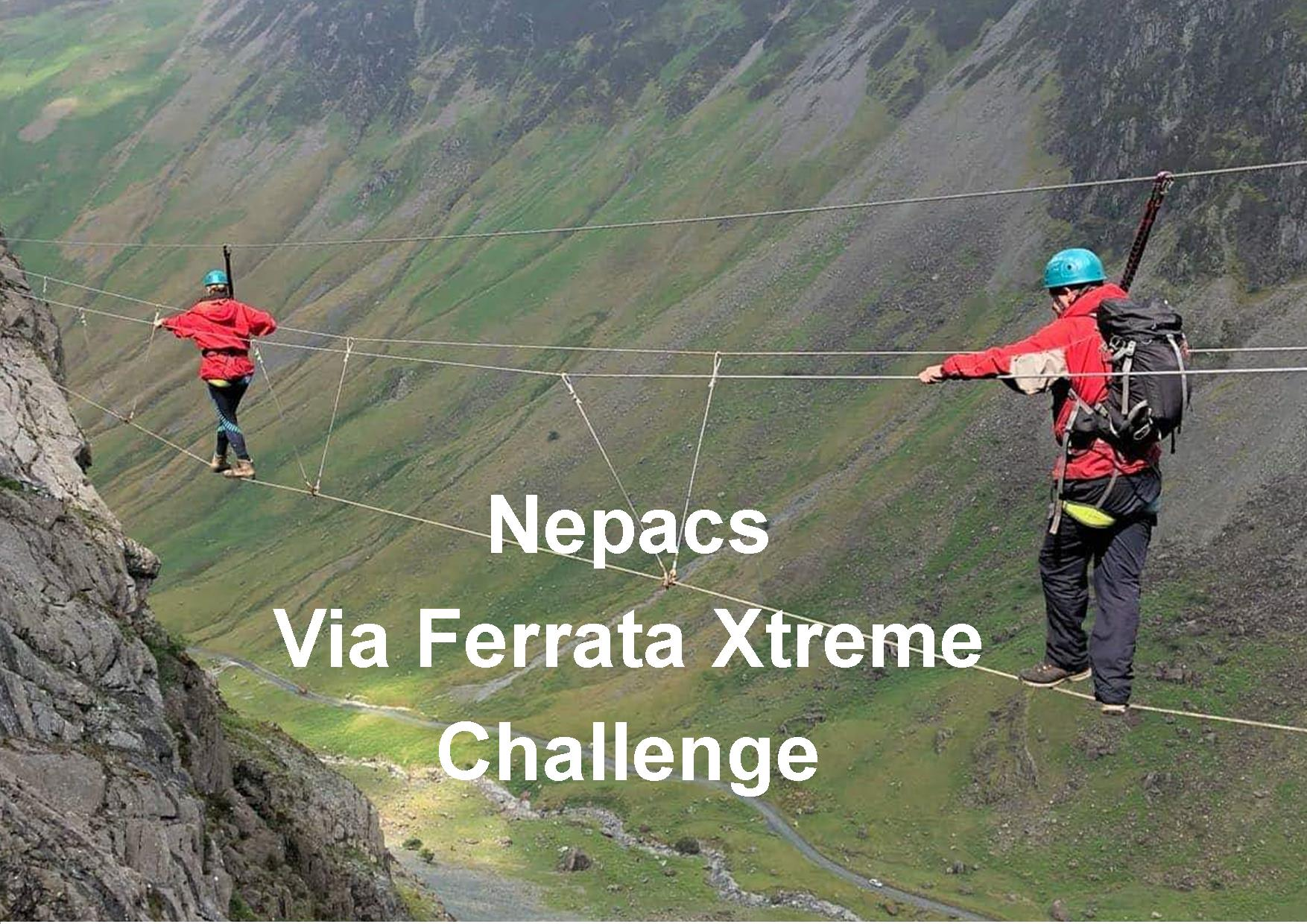 Nepacs team take on Via Ferrata Xtreme
